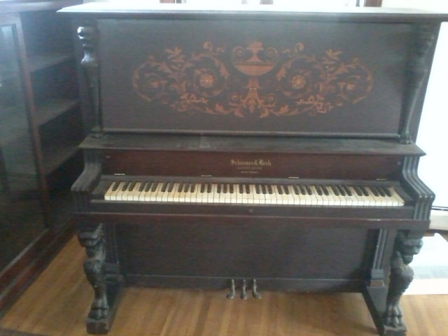 antique piano in old house