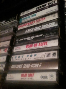 cassette tapes for a yard sale